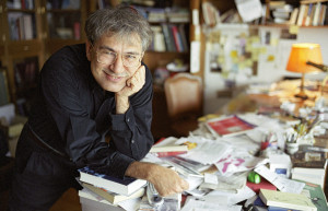 "ISTANBUL, TURKEY - DECEMBER 2004: (FILE PHOTO) Author Orhan Pamuk poses in his office on December 2004 in Istanbul, Turkey. Pamuk was born in Istanbul on June 7, 1952. He spent all his life in Istanbul, except three years in New York. After attending the architecture program in Istanbul Technical University for three years, he finished the Institute of Journalism at the Istanbul University. He started writing regularly in 1974. Pamuk, who faces trial next month for the ""public denigration of Turkish identity,"" has been awarded the prestigious French foreign literature prize the Prix Medicis. (Photo by Eric Bouvet/Getty Images) *** Local Caption *** Orhan Pamuk 51917491ER006_pamuk"